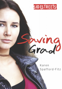 The design team at Lorimer Books hit it out of the park with this awesome cover illustration of Vienna Fleury, protagonist of SAVING GRAD.