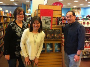 Three Alberta authors; Three takes on YA fiction  Karen Bass (historical fiction author); Karen Spafford-Fitz (contemporary fiction author); Marty Chan (steampunk author)