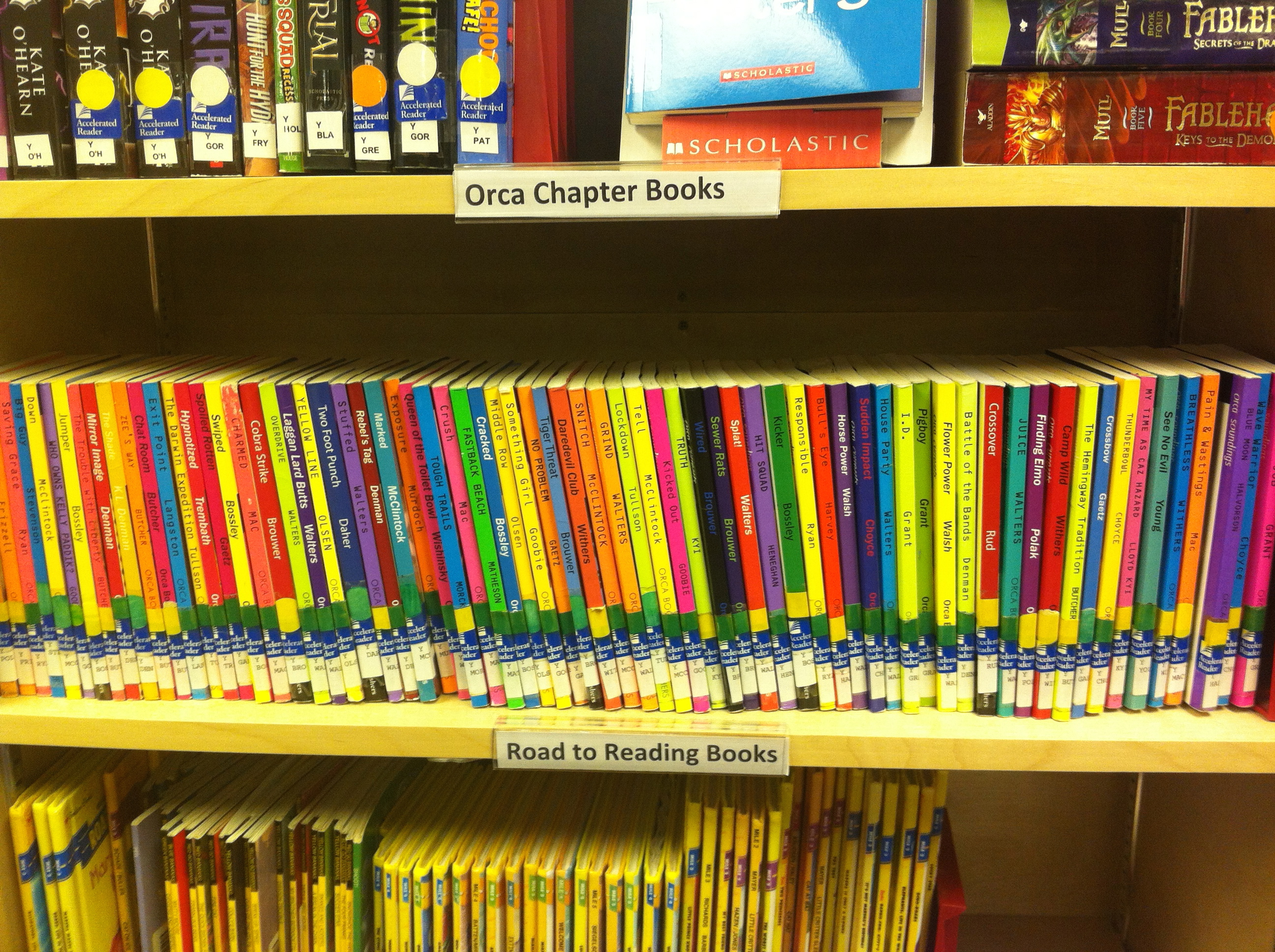 4b1a25aee6b How wonderful to see so many Orca titles at the library in Veteran!