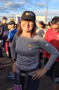 Don't trust the confident smile. This woman seriously does NOT know how to run a 10k.