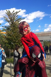 SpiderMable, Edmonton's favourite new superhero.