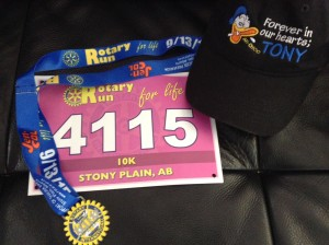 Rotary Run For Life race: where I first crossed paths with Morrie and his athlete-partner