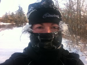 The happy look of training in -30c temps in January