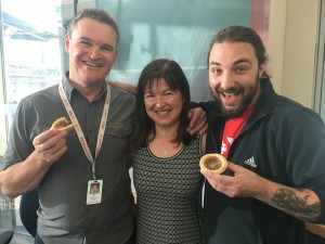 Mark and Garrette; butter tarts