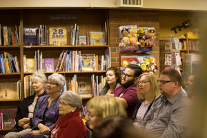 Family, friends and book lovers were among the well-wishers at Audreys.