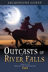 "If I had to pick a favourite book by Jacqueline Guest, I'd have to choose ""Outcasts of River Falls,"" which is the sequel to ""Belle Of Batoche."""