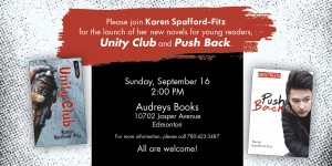Hope you can join me for the party at Audreys Books! Sunday, September 16th, 2 pm.